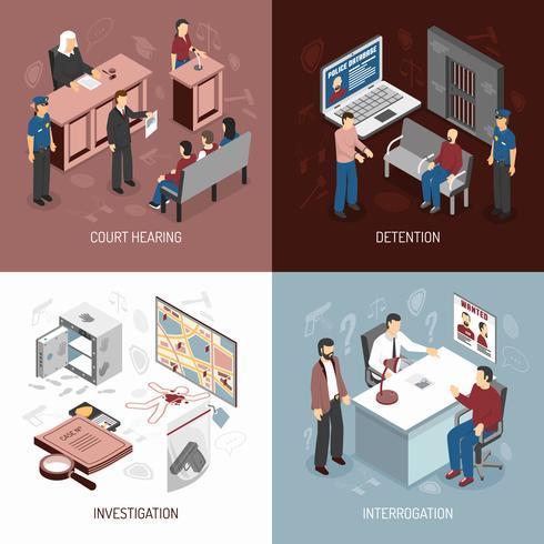 Concept isométrique du système juridique vecteur