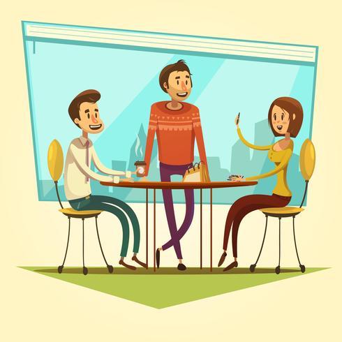 Illustration de réunion d'affaires vecteur