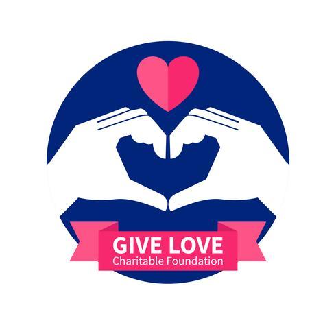 Illustration du logo de la fondation caritative vecteur