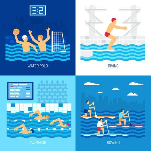 Concept de sport nautique vecteur