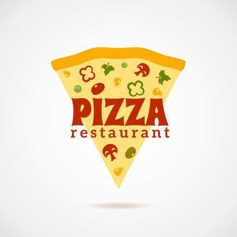 Illustration logo pizza vecteur
