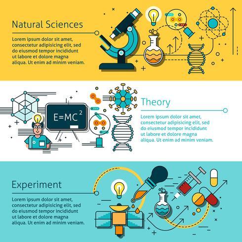 Science Line Banners Set vecteur
