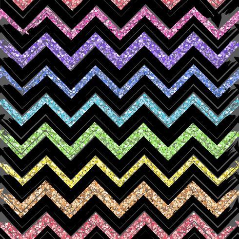 Modèles sans soudure avec motif de couleur des lignes en zigzag vecteur