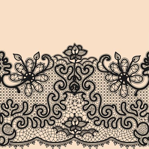Seamless Pattern de ruban de dentelle abstraite. vecteur