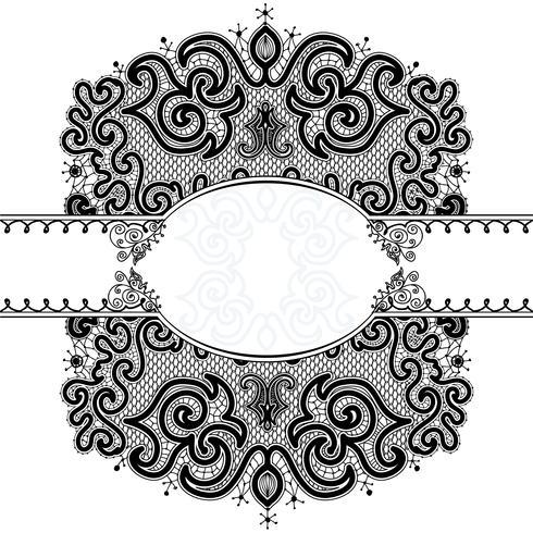 Seamless Pattern de ruban de dentelle abstraite vecteur