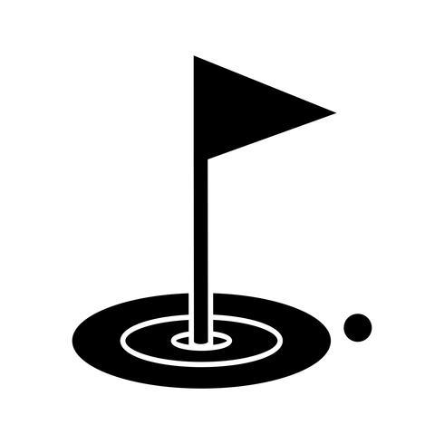 Icône de glyphe de golf noir vecteur