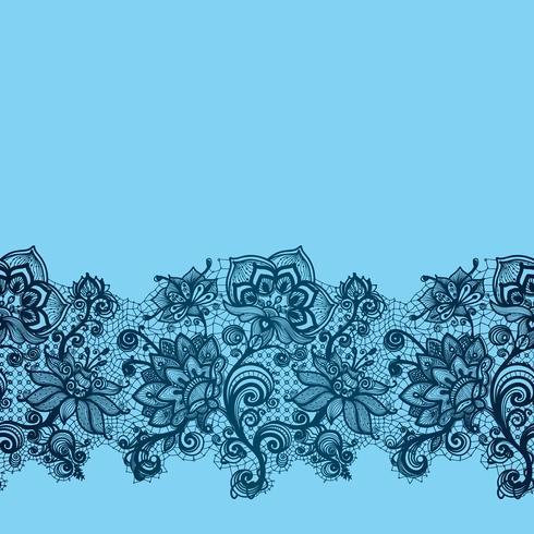 Motif de fleurs sans couture de ruban de dentelle abstraite. vecteur