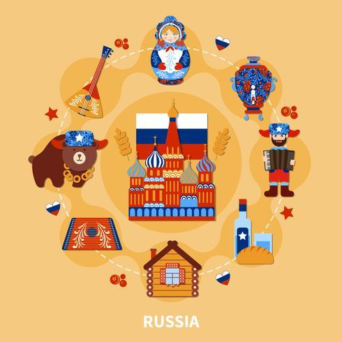 Composition de voyage en Russie vecteur