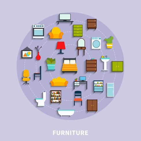 Illustration de concept de mobilier vecteur