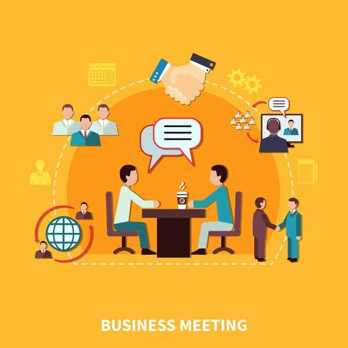 Composition de réunion de collaboration de travail d'équipe vecteur