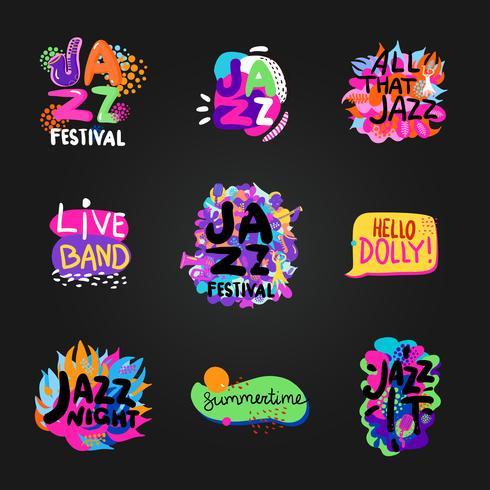 Ensemble de tableau de jazz vecteur
