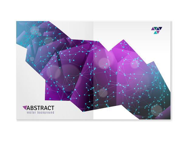 Formes géométriques 3D Abstract Design vecteur