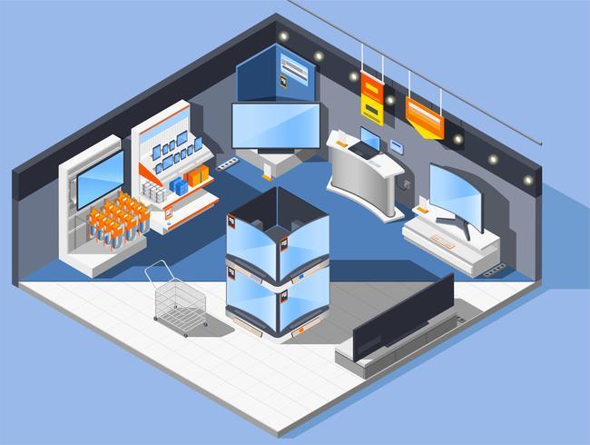 Composition du magasin d'appareils multimédia vecteur