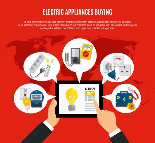 Appareils électriques achat en ligne Illustration vecteur