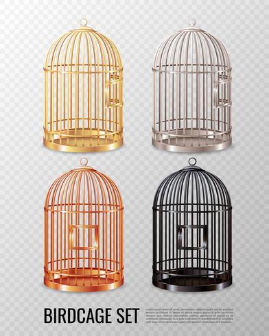 Canary Birdcage 3d set vecteur
