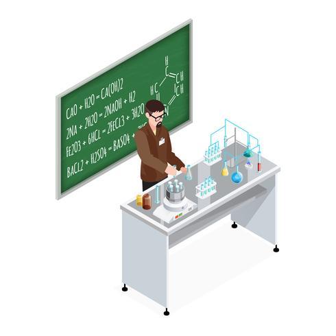 Professeur de chimie composition vecteur