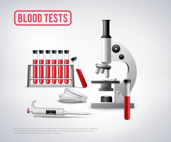 Analyse de sang vecteur