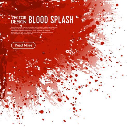 Affiche de conception de page Web de fond d'éclaboussure de sang vecteur