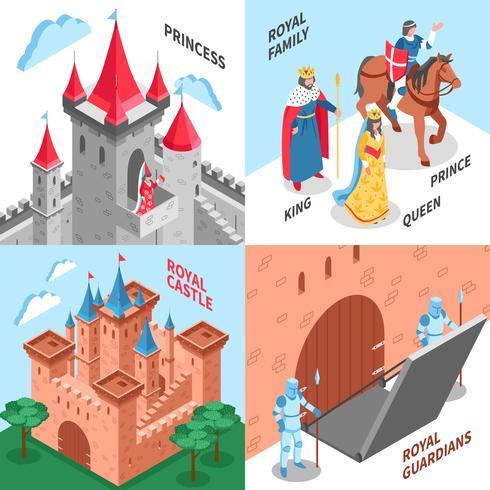 Concept de design du château royal vecteur