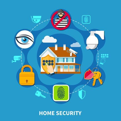 Concept de sécurité à la maison vecteur