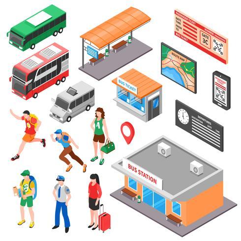 Ensemble isométrique de terminal de bus vecteur