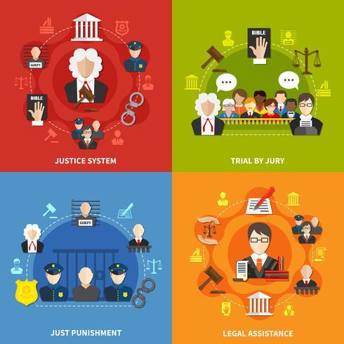 jeu d'icônes de loi vecteur