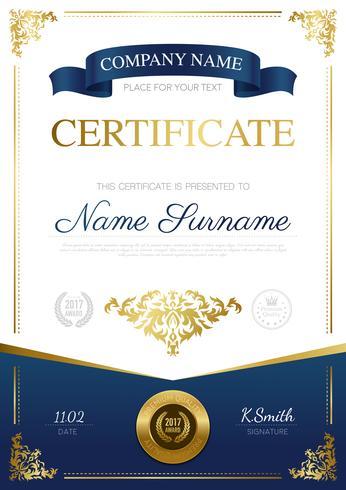 Conception de certificat élégant vecteur
