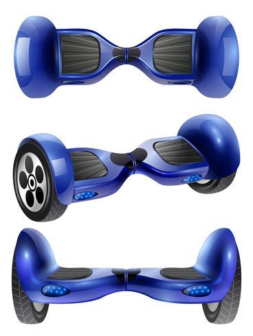 Ensemble d'images réaliste de scooter gyroscopique 3 vecteur