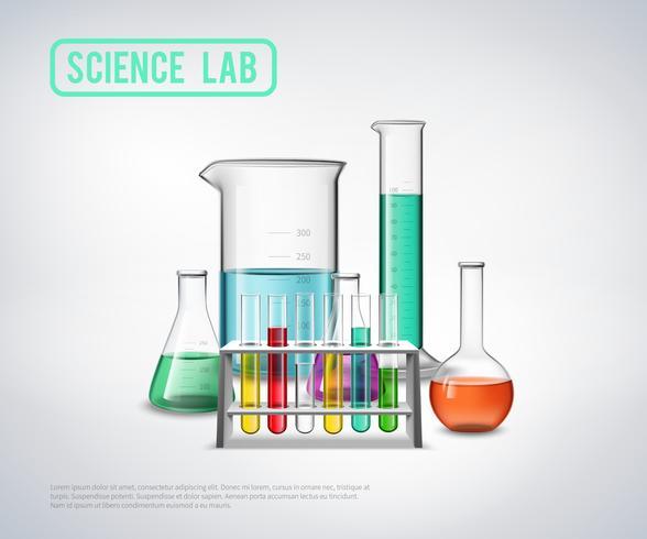 Composition d'équipement de laboratoire scientifique vecteur