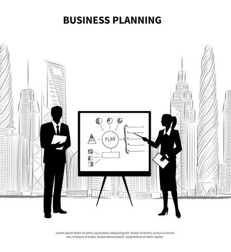 Présentation du plan d'affaires. vecteur
