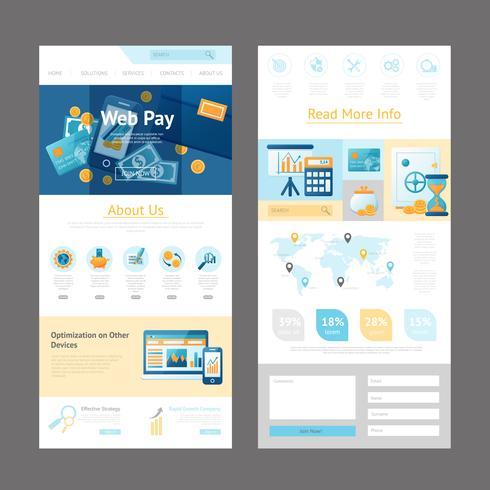 Modèle de page de conception de site Web vecteur