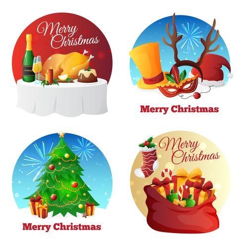 Collection de fête de Noël vecteur
