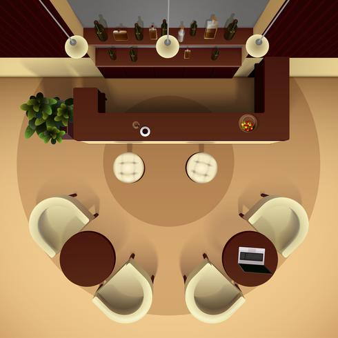 Illustration intérieure de la salle vecteur