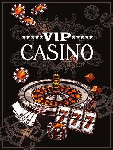 esquisse de casino vecteur