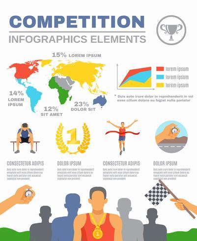 Infographie de compétition sportive vecteur