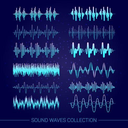 Collection d'ondes sonores vecteur