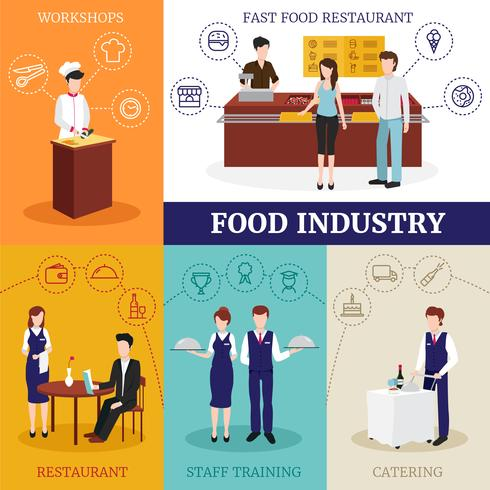 concept de design restaurant people vecteur