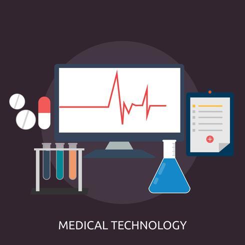 Technologie médicale Illustration conceptuelle Conception vecteur