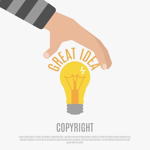 Copyright Design Design Concept vecteur