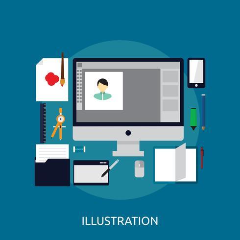 illustration Design conceptuel vecteur