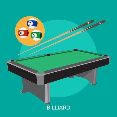 Billard Illustration conceptuelle Design vecteur