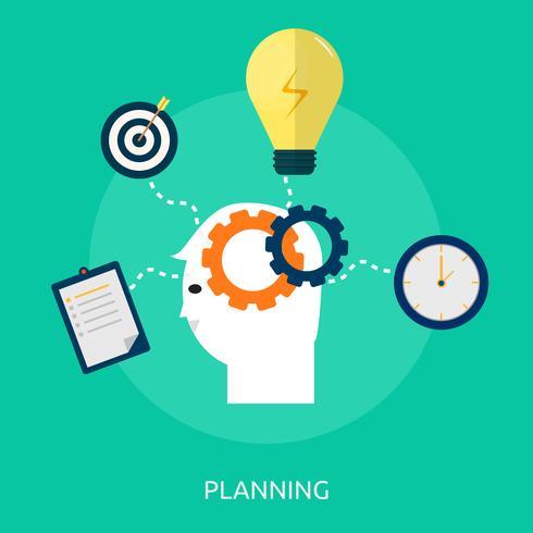 Planification Illustration conceptuelle Conception vecteur
