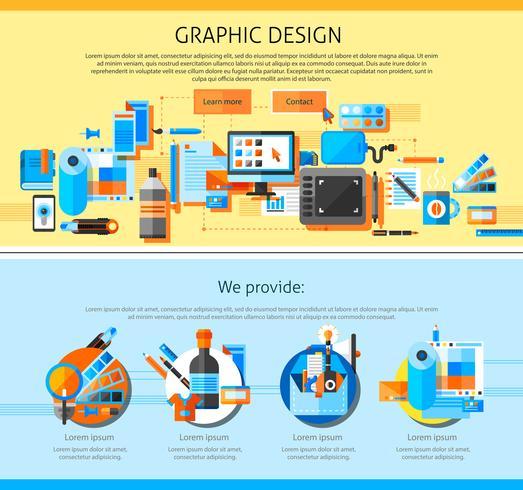 Conception de pages d'art graphique vecteur
