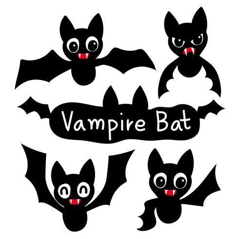 conception de collection de vecteur chauve-souris vampire