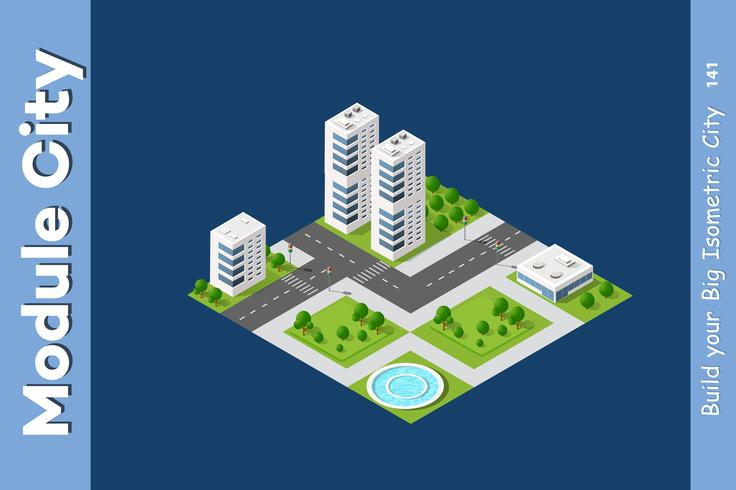 Quartier de la ville mégapolis vecteur