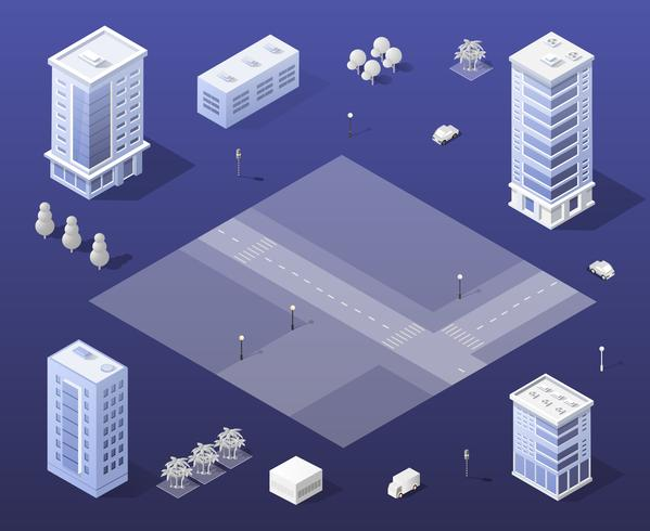 City set gratte-ciel moderne vecteur