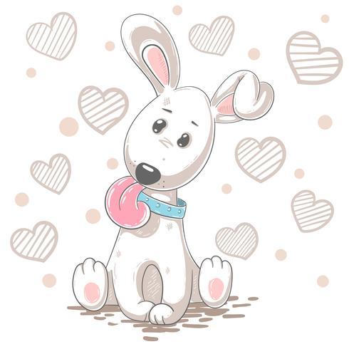 Caricature de chien mignon. Illustration de bébé. vecteur