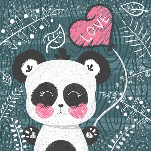 Motif mignon de panda - petite princesse. vecteur