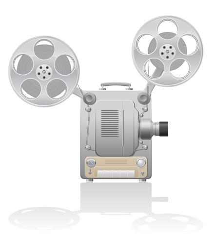 illustration vectorielle de cinéma projecteur vecteur