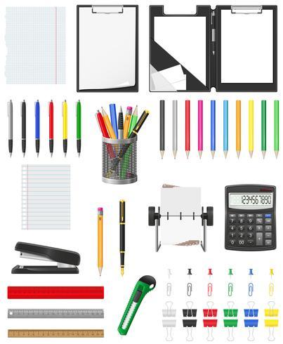 papeterie set icons illustration vectorielle vecteur